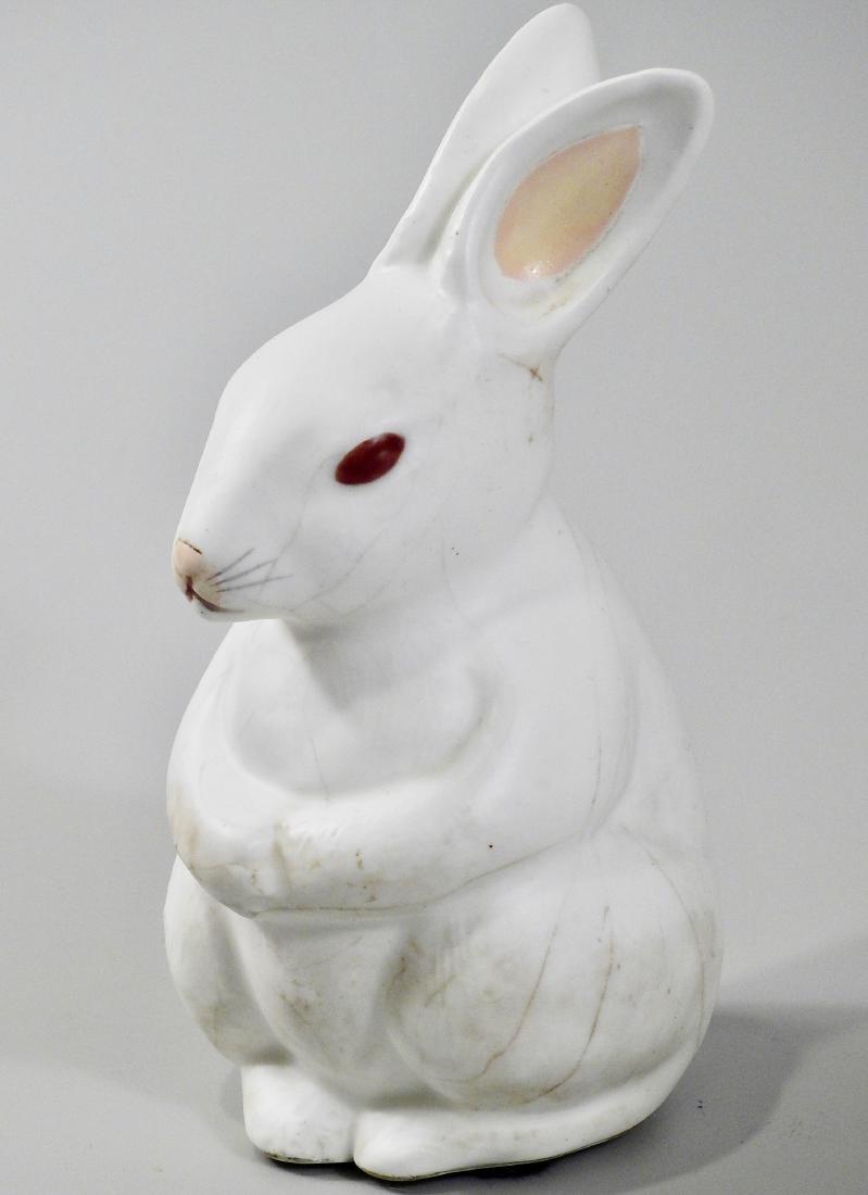 Vintage Easter Decoration White Bunny Figurine