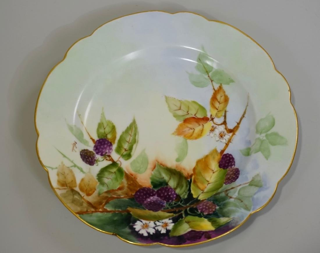 Antique c 1900 Hand Painted Blackberry Plate