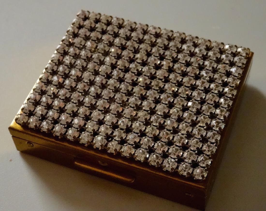 Rhinestones Lavishly Jeweled Vintage Art Deco Compact