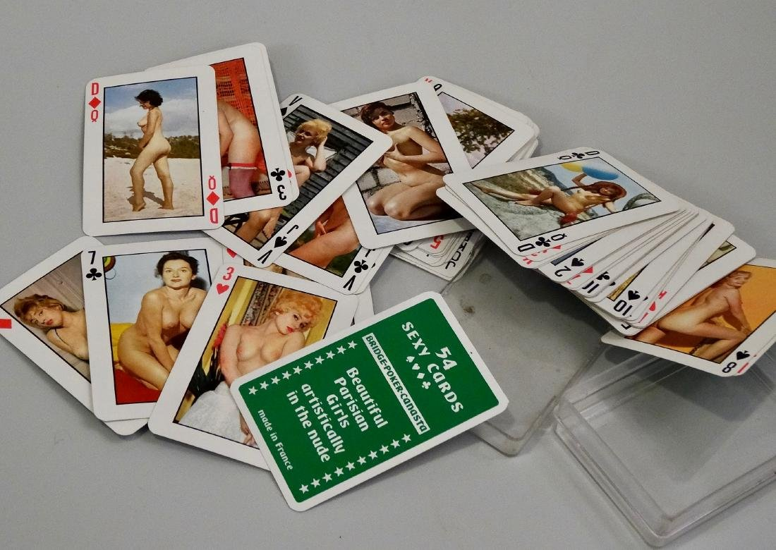 Vintage French Risque Nude Erotic Playing Cards France
