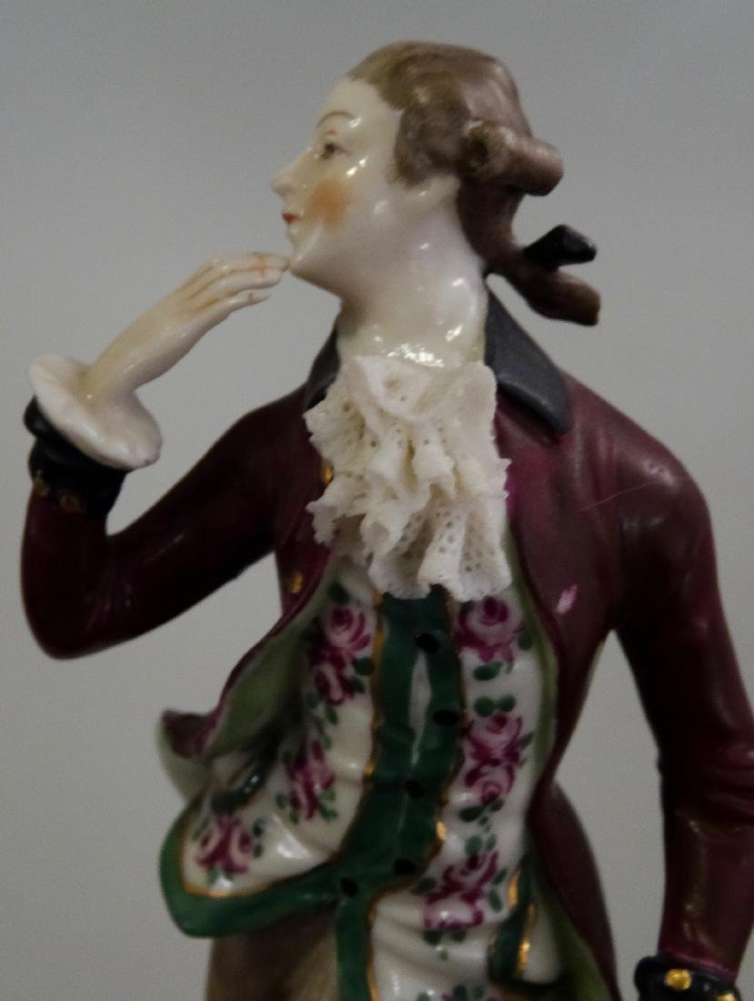 German Porcelain Figurine 18 Century Dress