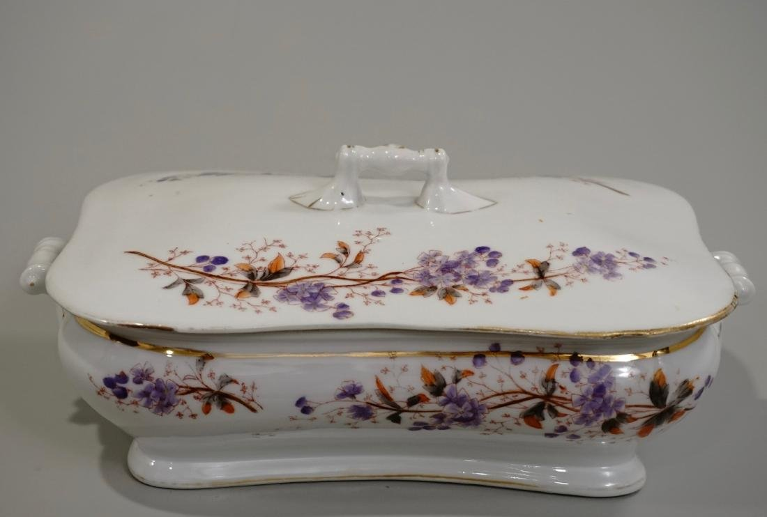 Antique Aesthetic China Lidded Vegetable Serving Dish