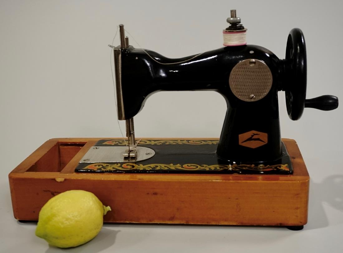 Miniature Sewing Machine Vintage Russian Salesman