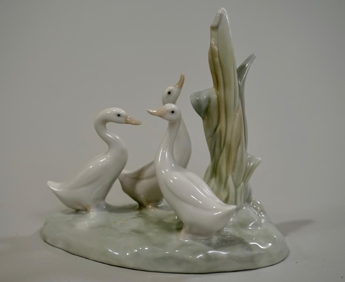 Nao Lladro Three Geese Porcelain Figurine Made in Spain
