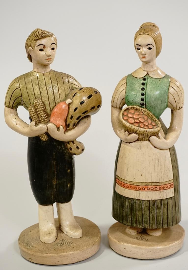California Pottery Sylvia Hood Vintage Farmers Figurine