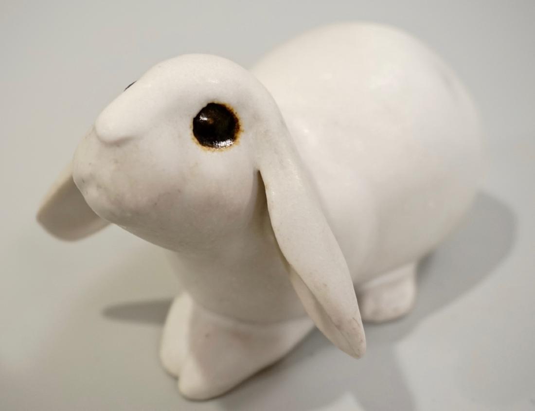 Vintage Mid Century Studio Pottery Hand Molded Bunny