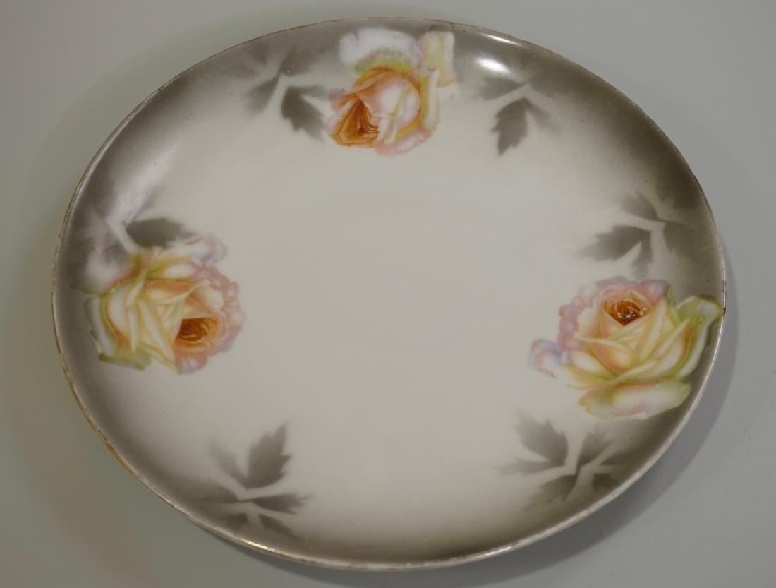 P V Vessra German Jugendstil Porcelain Plate Grey Faded