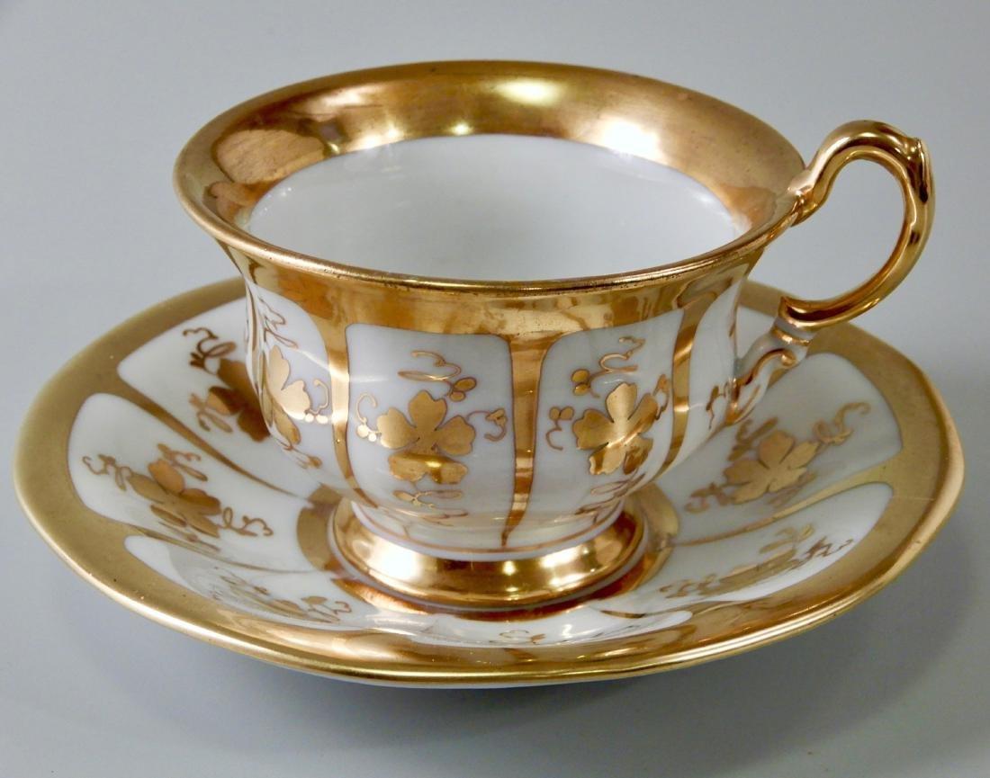 Czech Carlsbad Bellaria Porcelain Tea Cup and Saucer #1
