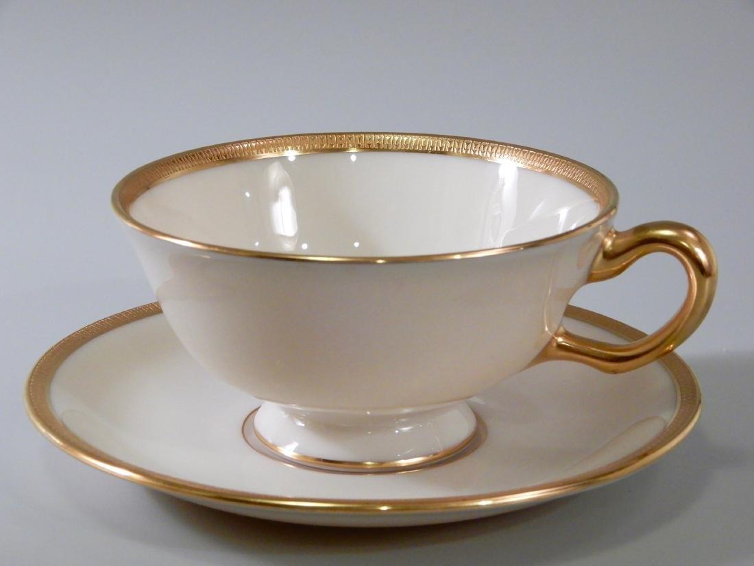 Lenox J33 Tuxedo Tea Cup and Saucer #1