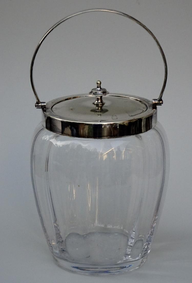 English Nickel Silver Electro Plated Lid Glass Barrel