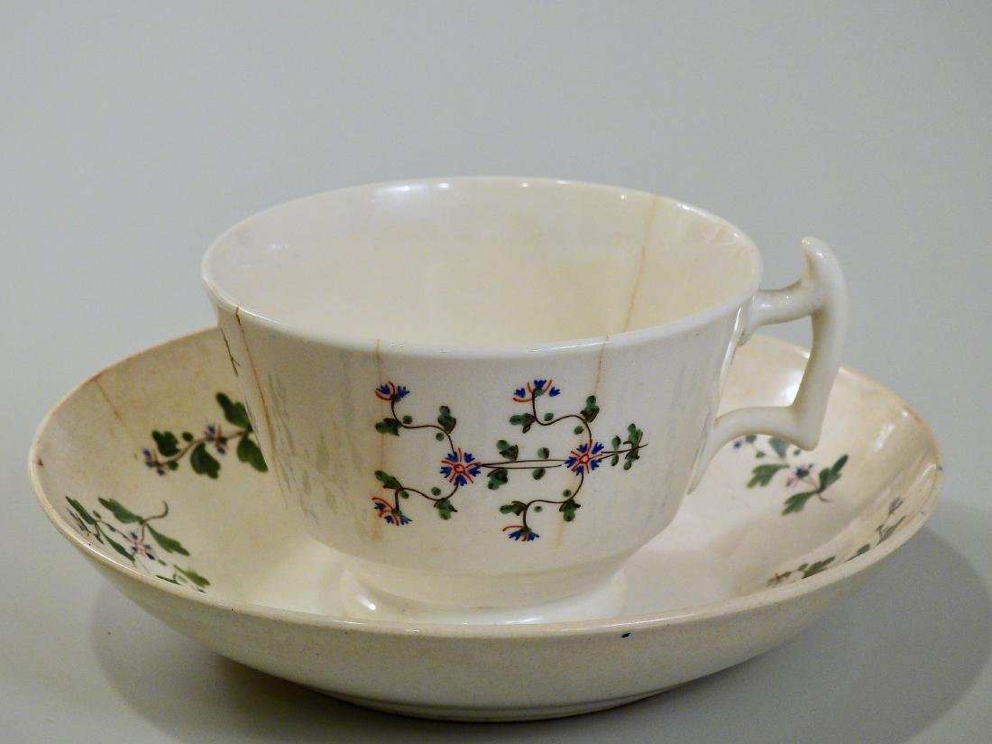 Antique c1800 English Early China Tea Cup And Deep