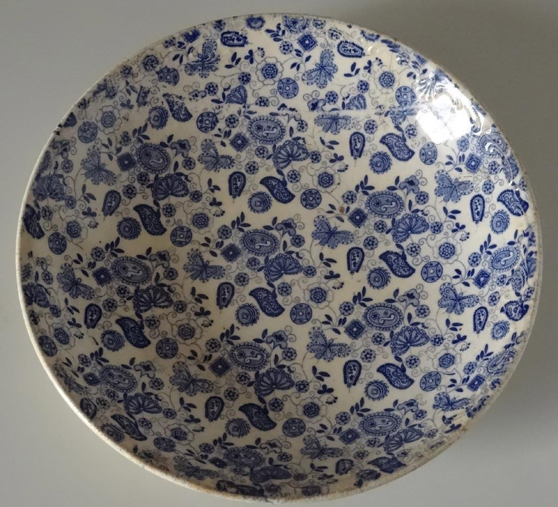 Antique c 1790 Flow Blue Bowl