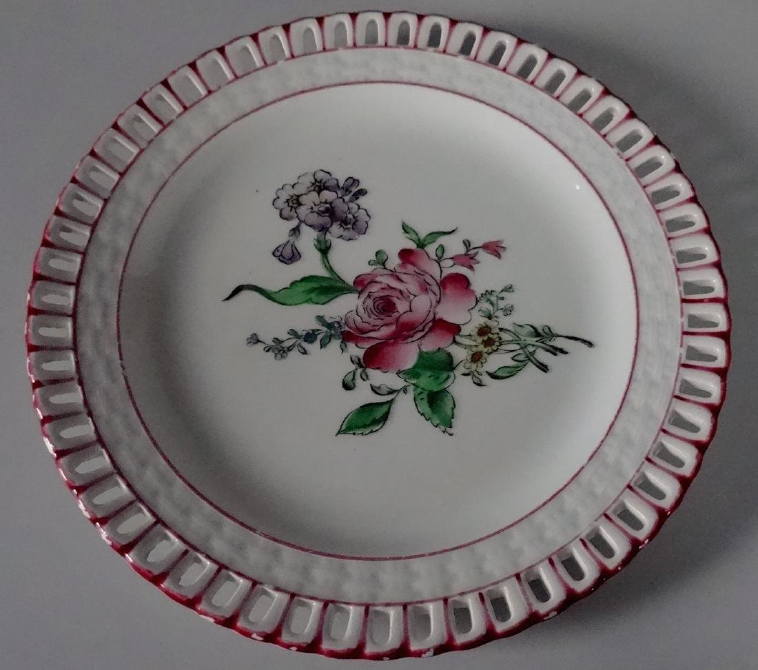 French Faience Old Strasbourg Pattern Reticulated