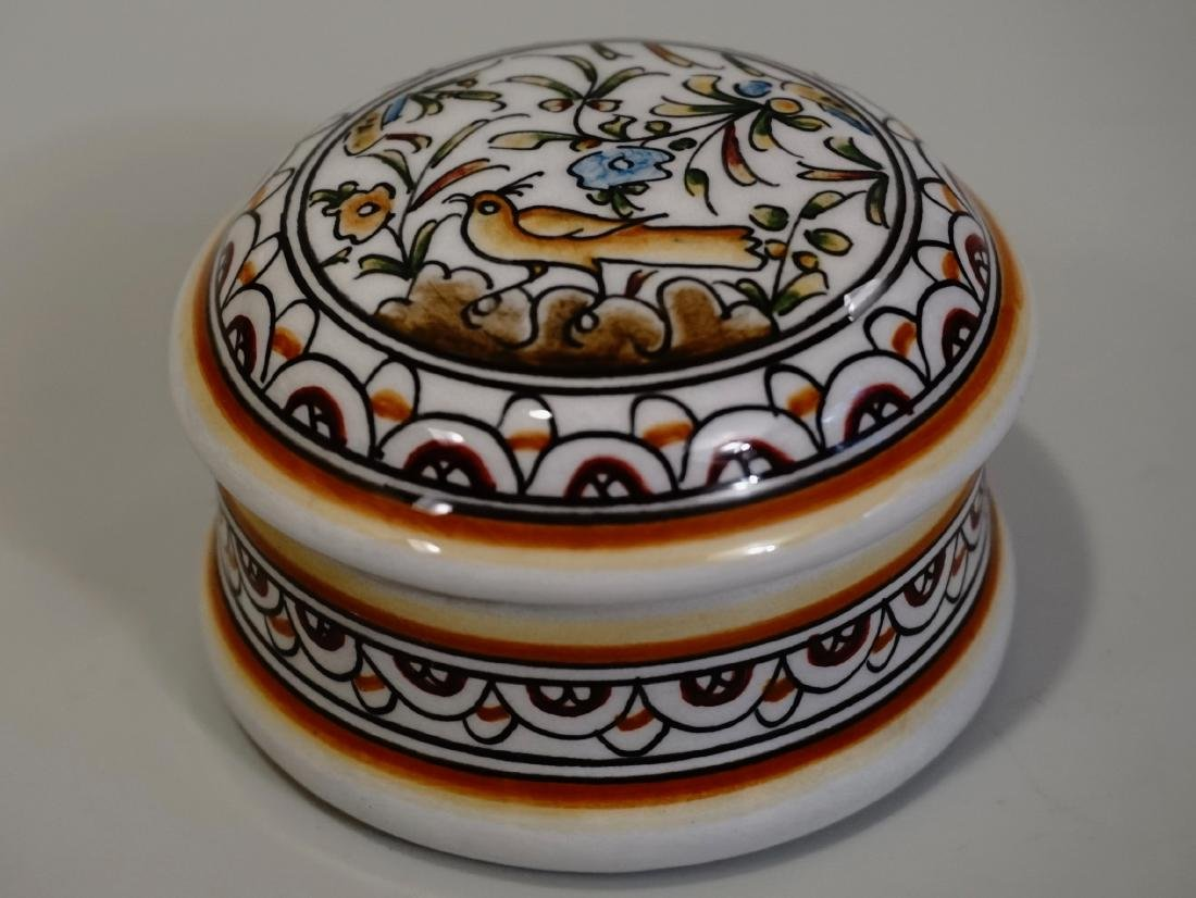 Porcelain Trinket Box Ceramic Hand Painted in Portugal
