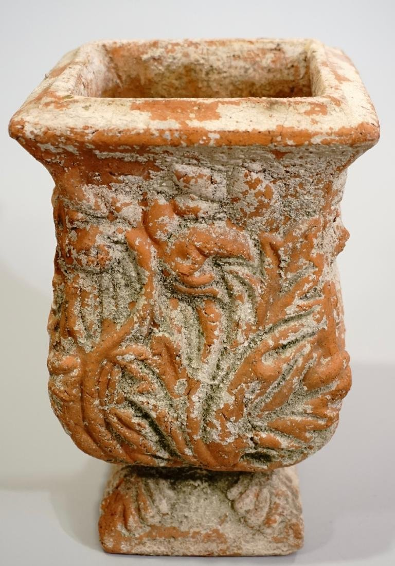 Weathered Terracotta Garden Urn Planter Cachepot