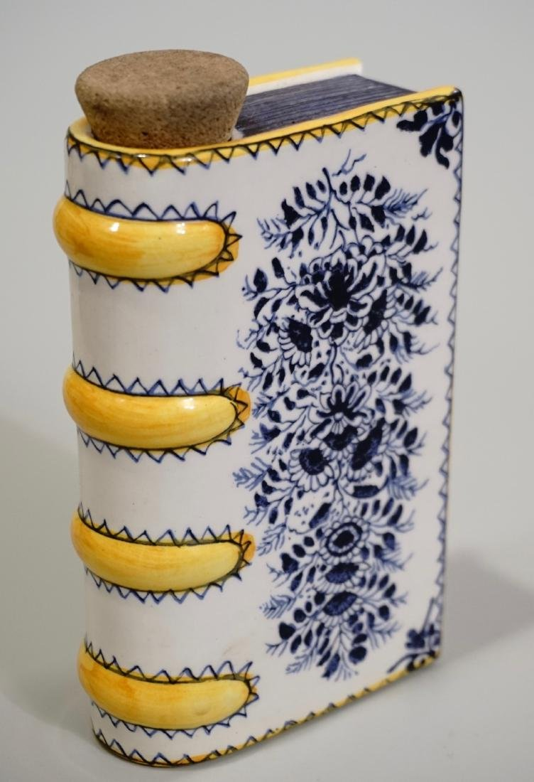 Ceramic Book Flask Decanter Made in Portugal for