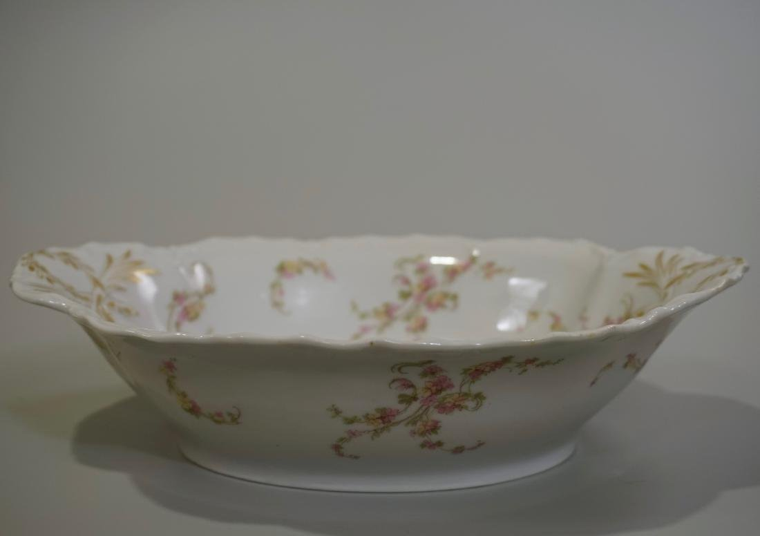 Antique Haviland Limoges French Porcelain Oval Bowl