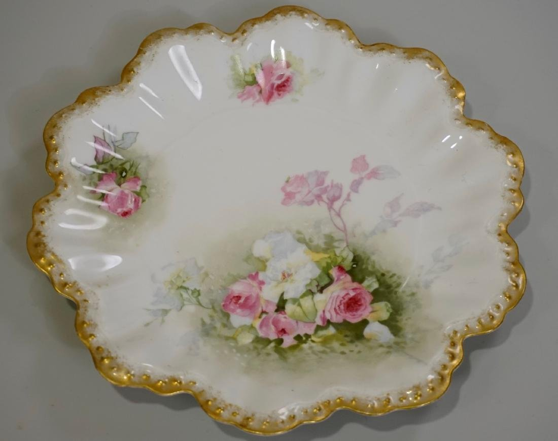 AL Limoges France Hand Painted Porcelain Plate Embossed