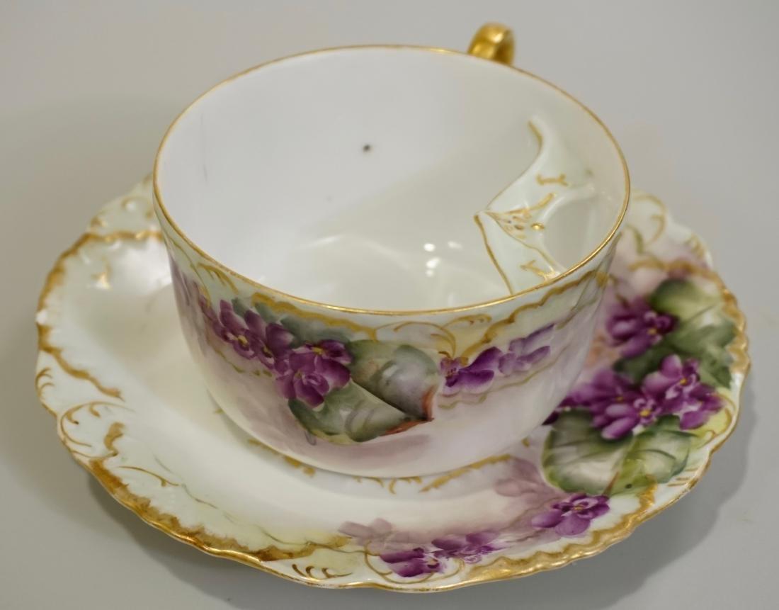 Antique Laviolette Limoges Porcelain Mustache Cup