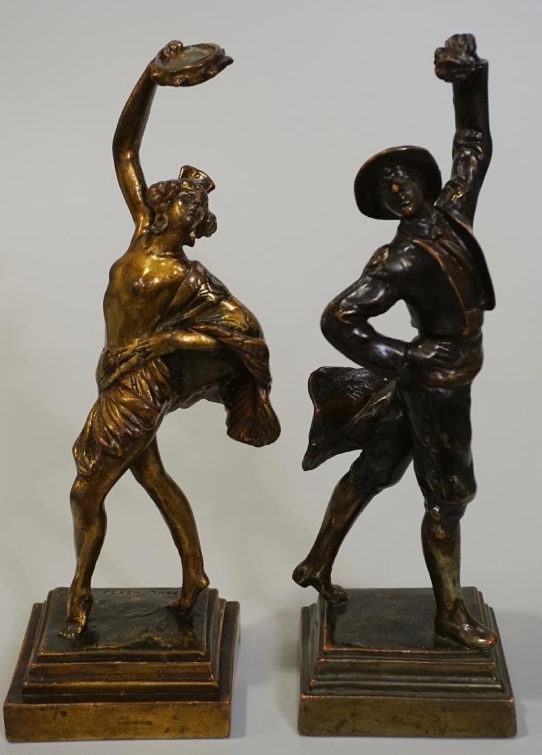 Flamenco Dancers Paul Herzel Pompeian Bronze Figurine