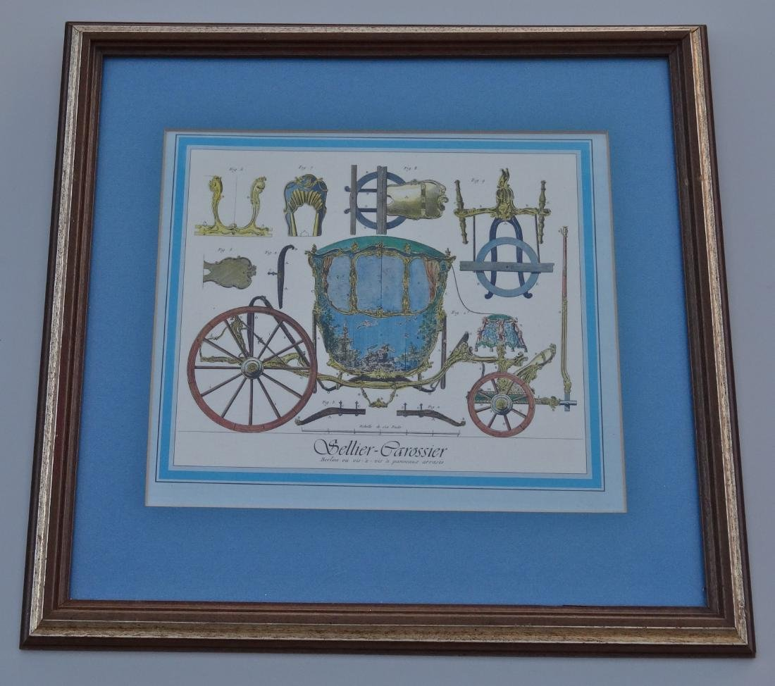 Antique Carriage Engraving Sellier Carrossier Vintage