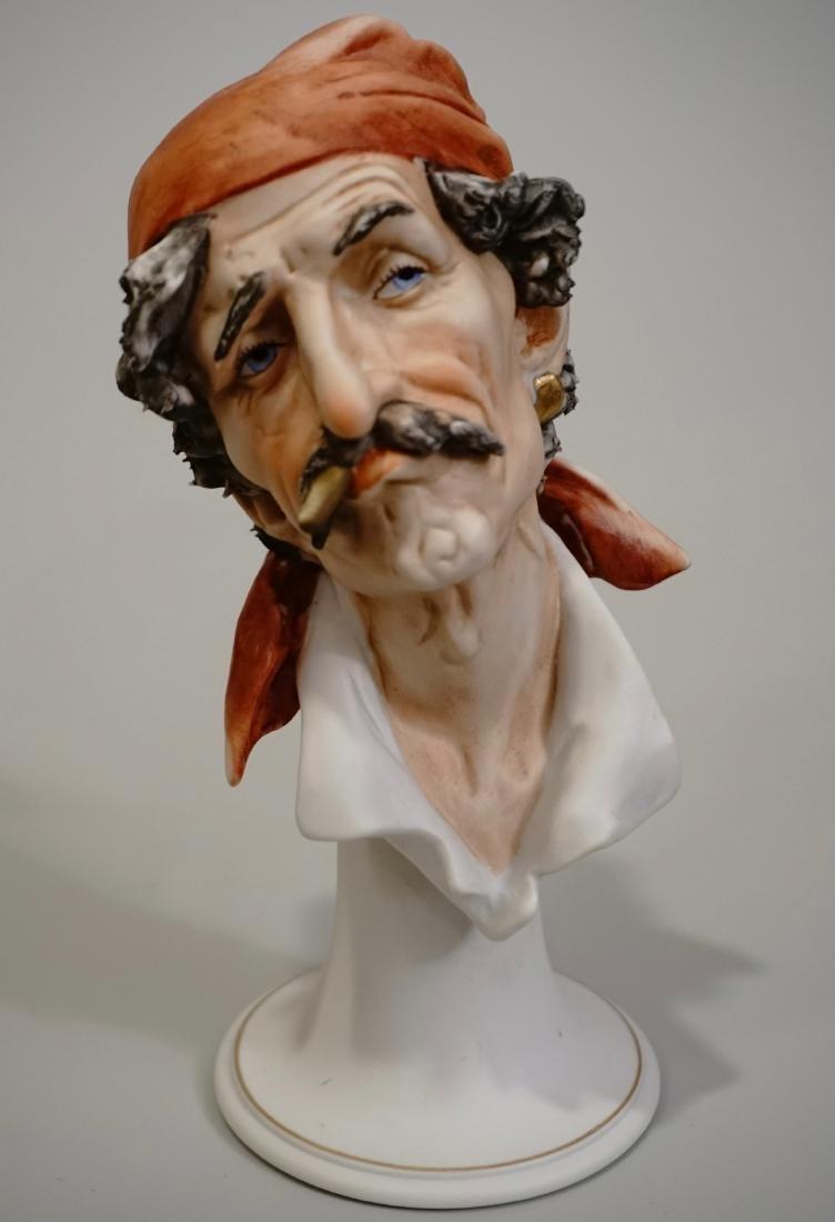 Italian Bisque Porcelain Bust J. Laurent Buccaneer
