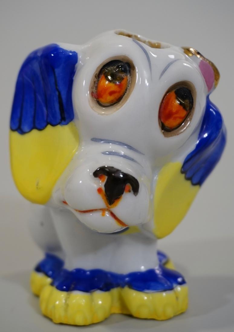 Figural Porcelain Dog Bottle c1930 Made in Japan