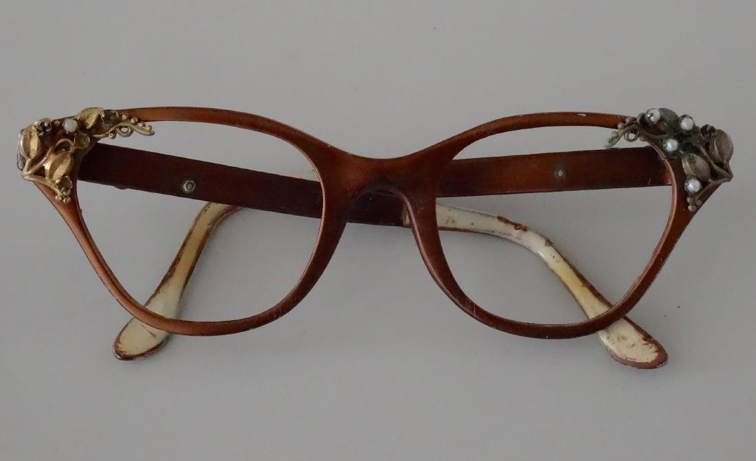 Vintage 50s Cat Eye Glasses Frame Theatrical Prop