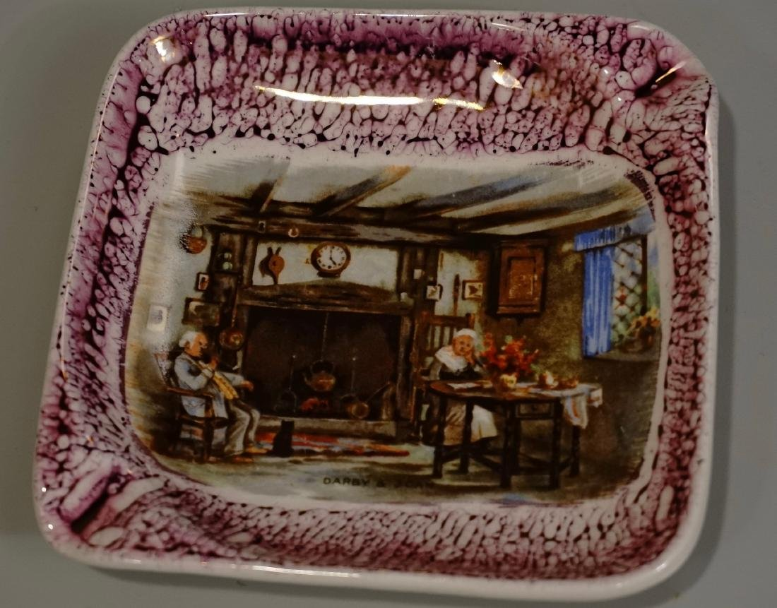 Darby & Joan Ashtray Old English Folks Lancaster China