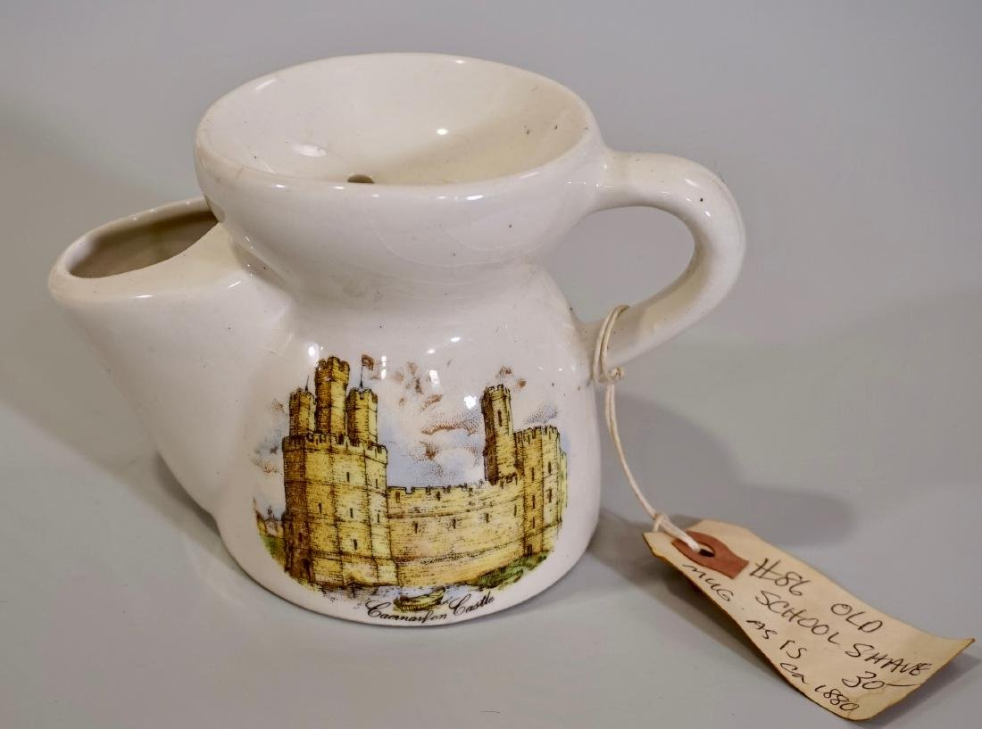 English Wales Caernarfon Castle Shaving Mug Vintage