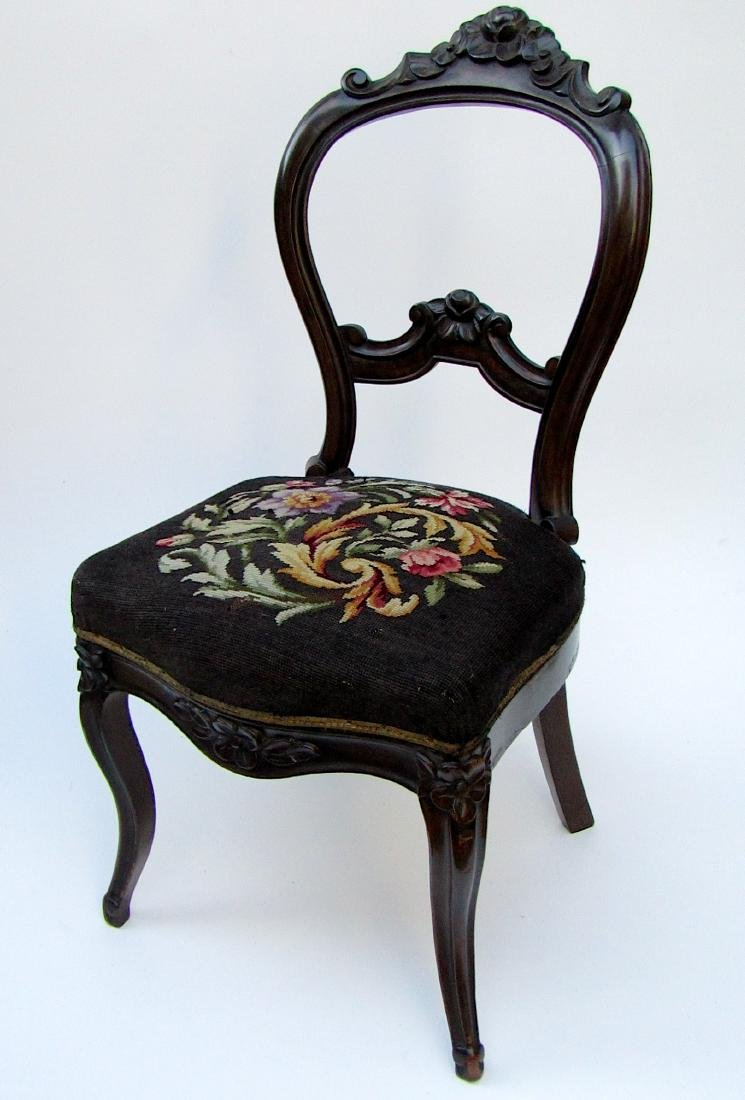 Antique Victorian Rosewood Carved Chair Original