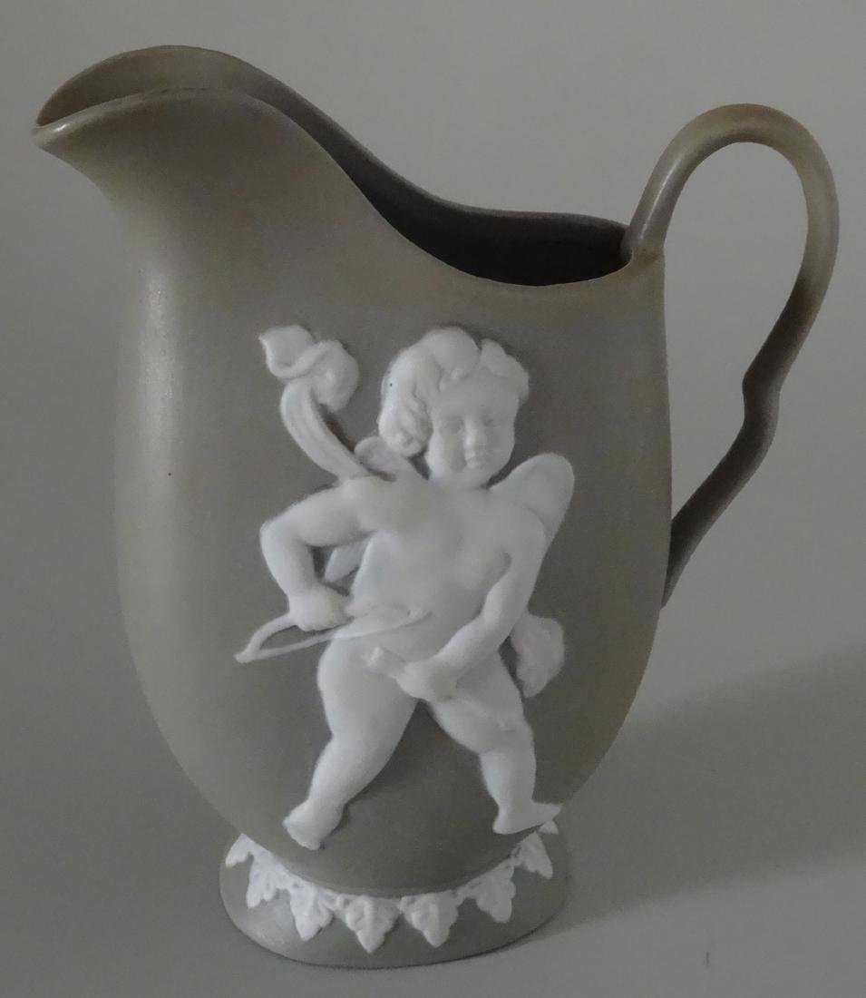 Old Jasperware Angel Cherub Vintage Pitcher Creamer