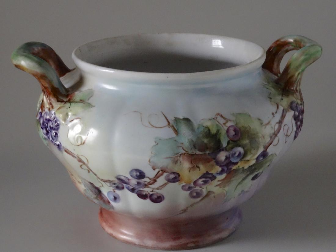 Antique Austrian Prussian Porcelain Grape Jardiniere