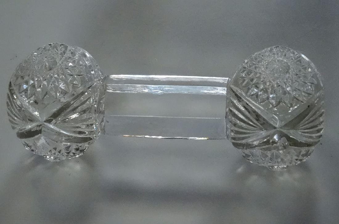 Pressed Glass EAPG Dumbbell Knife Rest