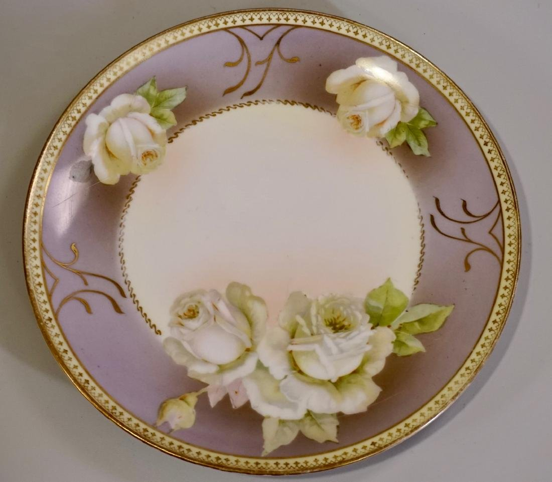 Vintage White Roses Art Deco Period Porcelain Cabinet