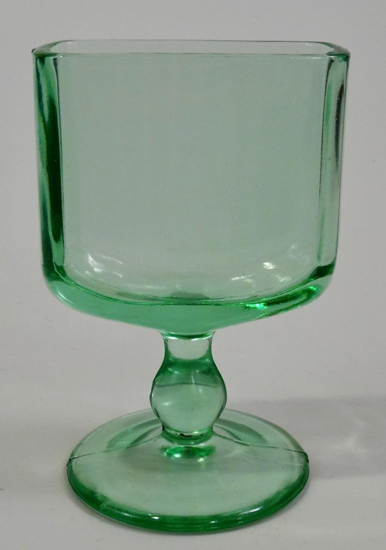 New Martinsville c 1925 Green Art Deco Glass Ashtray