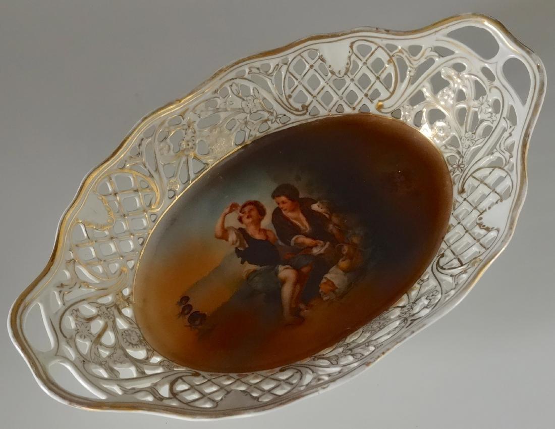 Bavarian Pierced Porcelain Dish Bread Basket Murillo Be