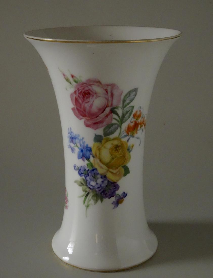 Vintage Dresden Flowers German Porcelain Vase