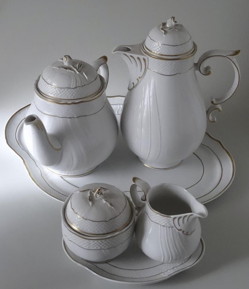 Blanc De Chine Hungarian Tea Coffee Service Set by