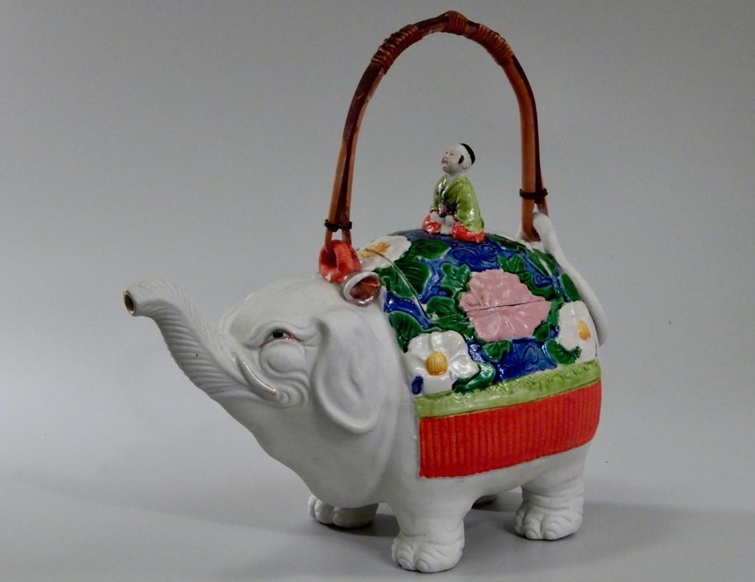 Large Vintage Art Deco Elephant Figural Teapot