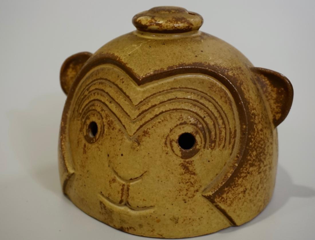 Mid Century Ceramic Studio Monkey Head Lantern Cover