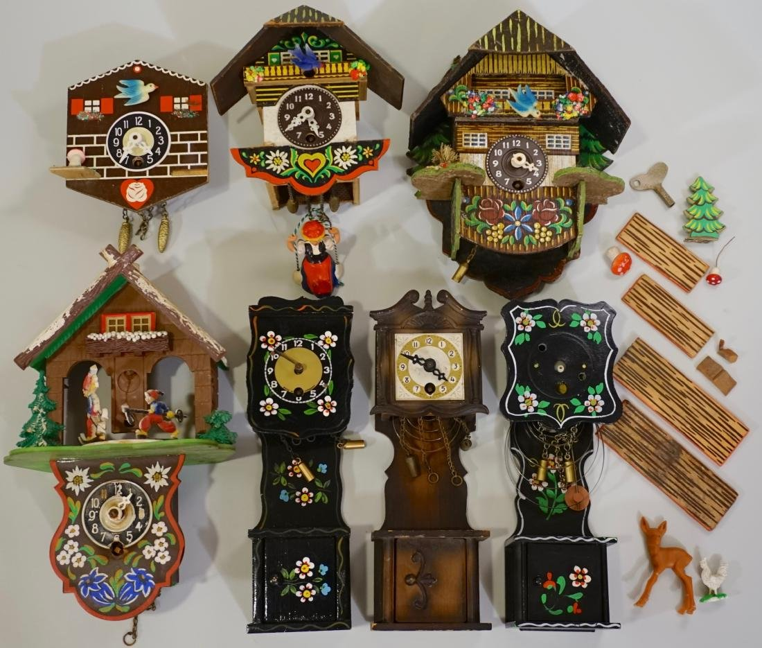 German Novelty Miniature Grandfather Cuckoo Clock