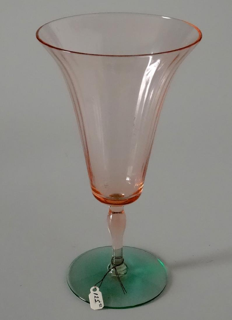 Fine Vintage Watermelon Art Glass Toasting Goblet