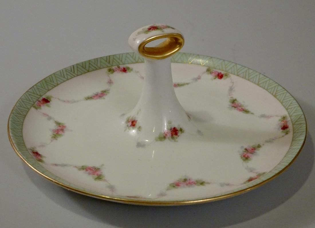 Vintage Porcelain Handled Serving Plate Pin Tray Art