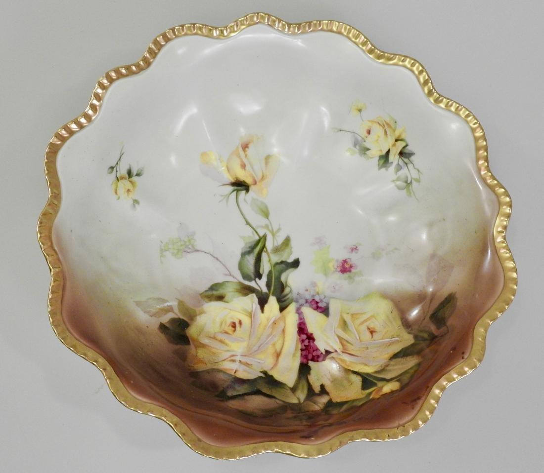 Antique Prussia Porcelain Painted Bowl