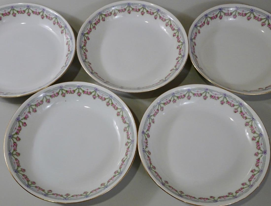 Austrian Shallow Bowls Porcelain Soup Plates Lot of 5