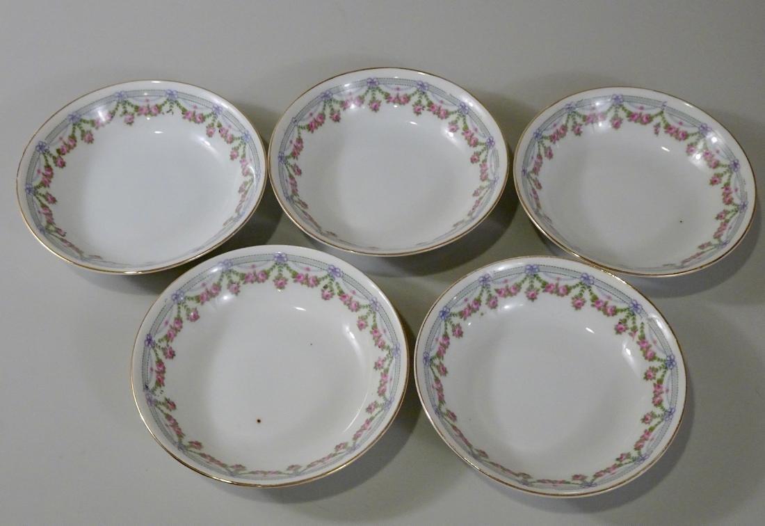 Lot of 5 Porcelain Deep Saucers Vintage Austrian