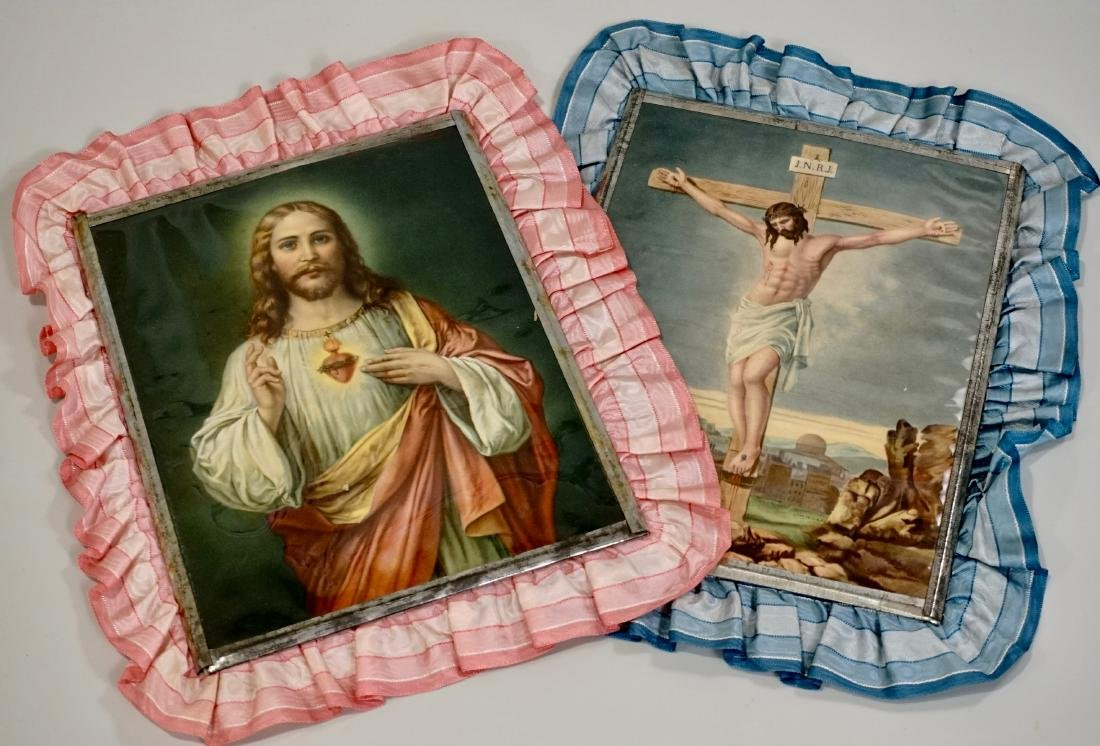 Sacred Heart of Jesus Crucifixion Color