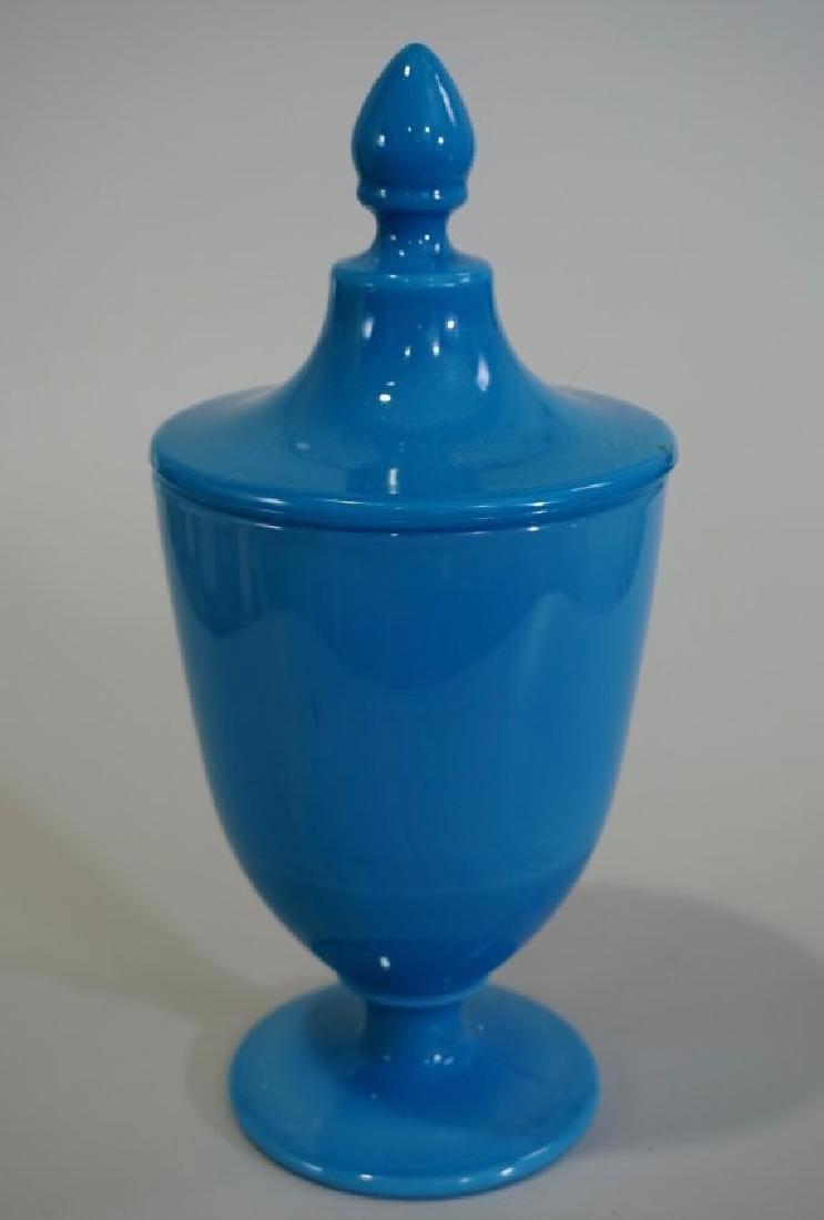 Blue Celeste Candy Jar Cambridge Azurite Art Glass