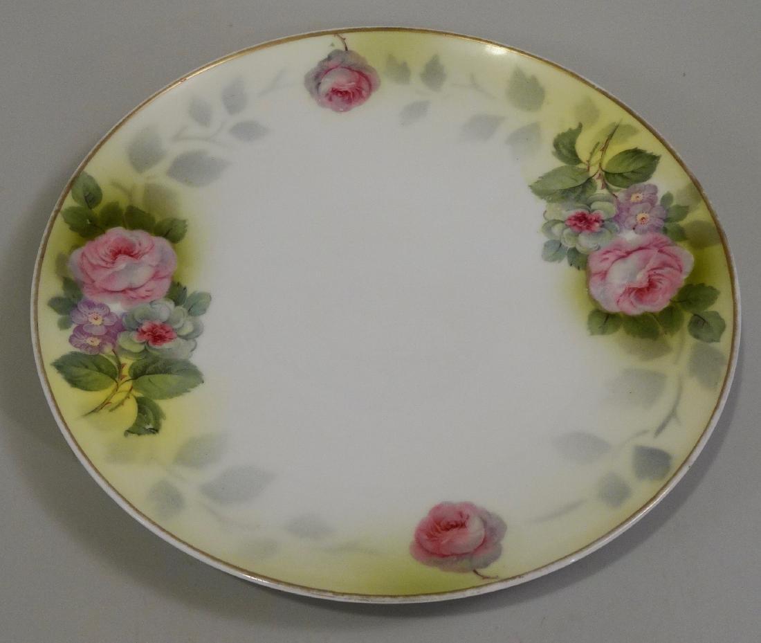Vintage Prussia Rudolstadt Roses Porcelain Plate
